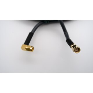 10 Meter Kabel H155 low loss 50 Ohm SMA-Stecker /  SMA-Winkelstecker