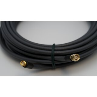 10 Meter Kabel H155 low loss 50 Ohm SMA-Stecker /  SMA-Buchse